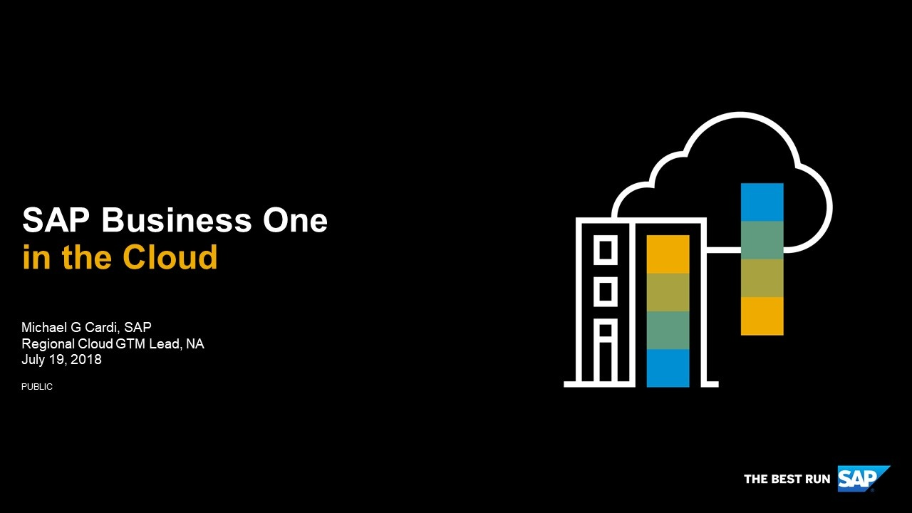 SAP Business One in the Cloud   Webcast Summary