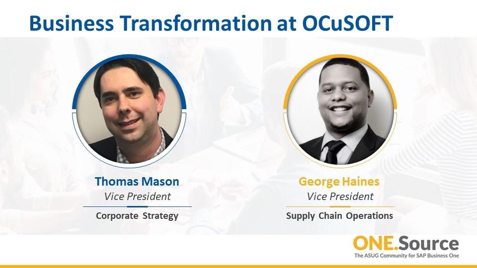 Business Transformation at OCuSOFT, Inc. - Logistics Customer Spotlight | Webcast Summary