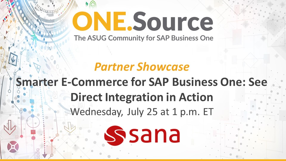 Smarter E-Commerce for SAP Business One: See Direct Integration in Action | Partner Spotlight Webcast on July 25